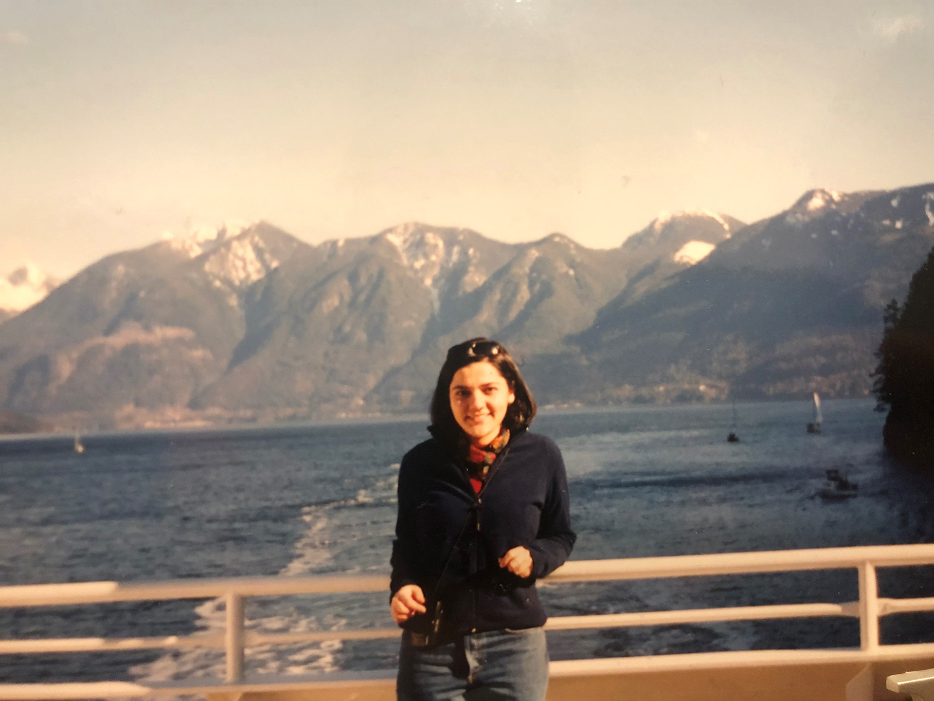 Sema on her first trip on B.C. Ferries, 1998