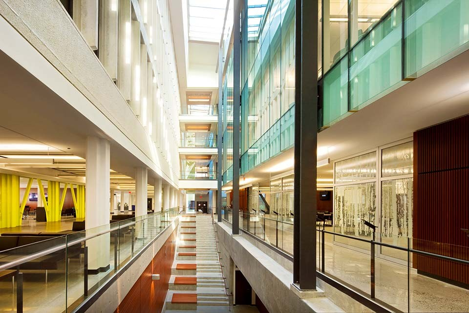 Image of atrium inside Sauder building