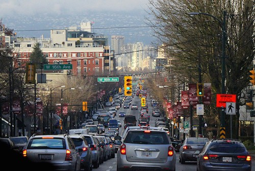 Busy Granville Street Vancouver