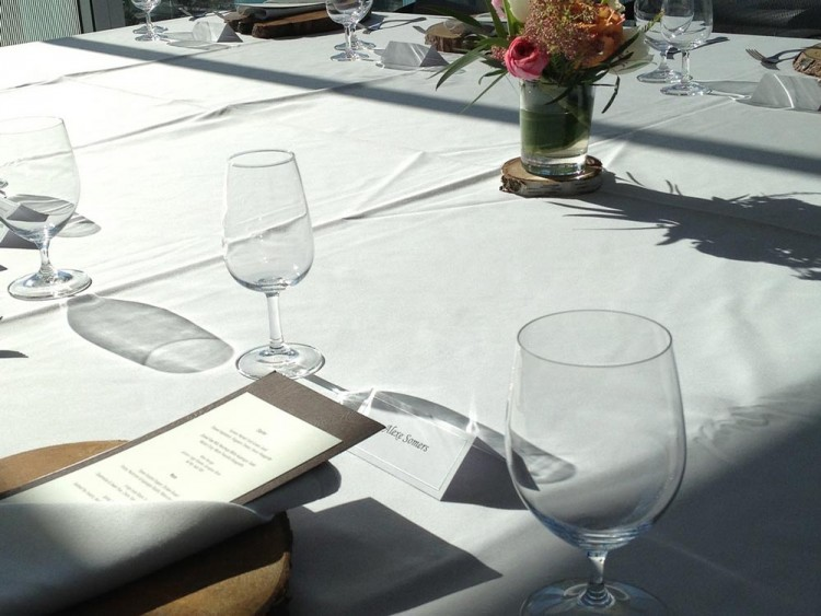 Image of dinner table setup