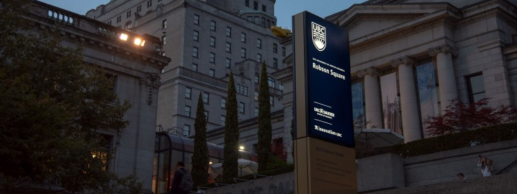 Image of Robson Square sign