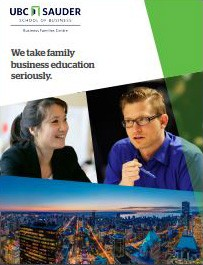 Business Families Centre Brochure cover
