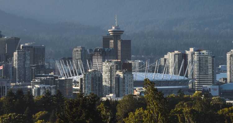 Image of Downtown Vancouver from Queen Elizabeth park