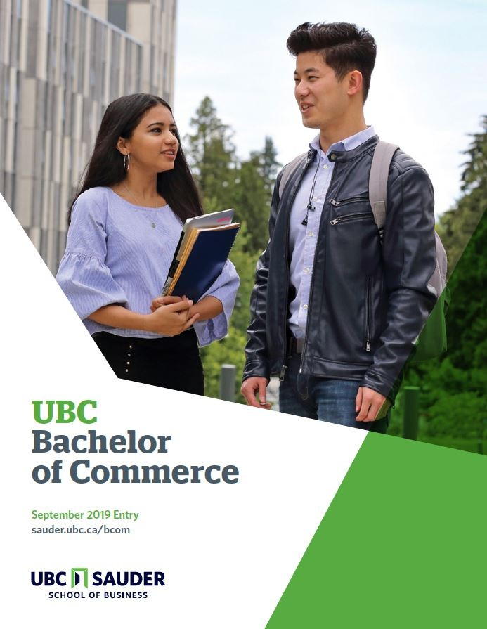 UBC Sauder BCom Brochure 2019 entry