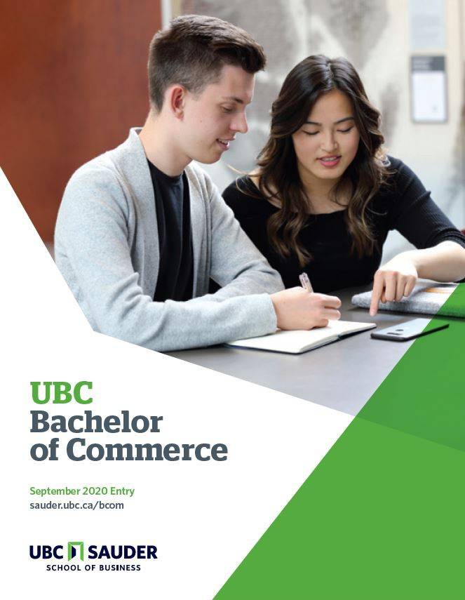 UBC Sauder BCom Brochure 2020 entry