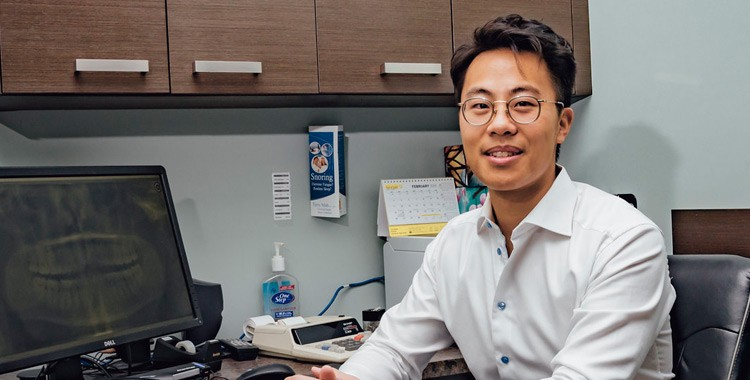 Image of Michael Mah in an medical office
