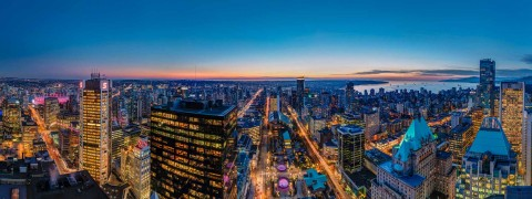 Aerial image of Downtown Vancouver skyline